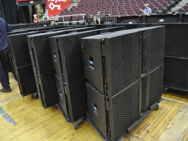 Stage left front speakers