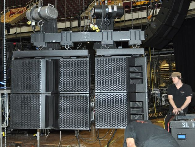 Stage left speakers