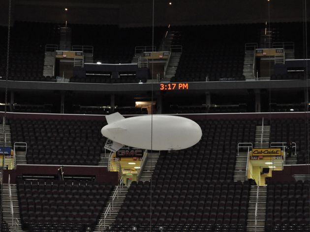 The video blimp