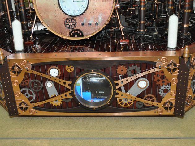 Neil Peart's drum riser