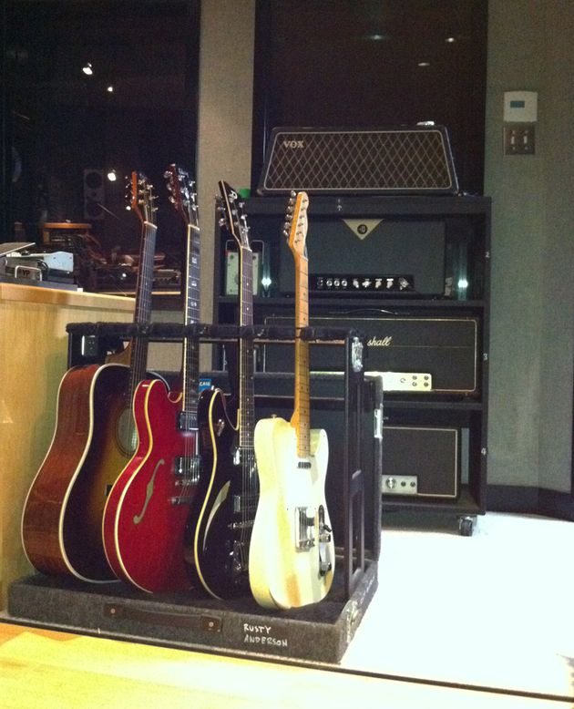 Just a few guitars and amps