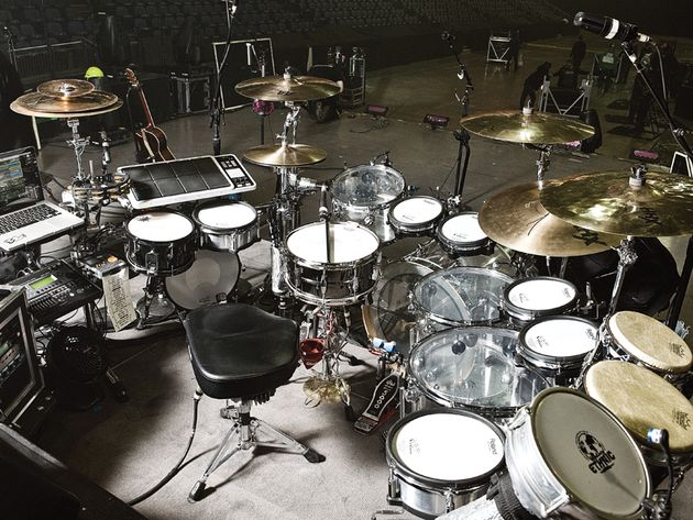 Le kit de Brendan Buckley, batteur de Shakira