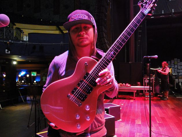 Shinedown's Zach Myers with just one of his PRS signature models