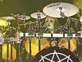 Slipknot's Joey Jordison's drum setup in pictures