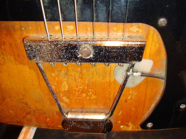 Steve Morse's Telecaster - tailpiece detail