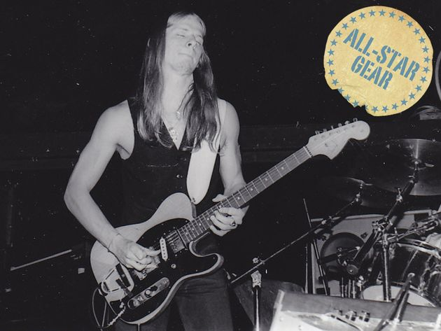 Steve Morse plays his Frankenstein Telecaster with the Dixie Dregs, 8 June 1978