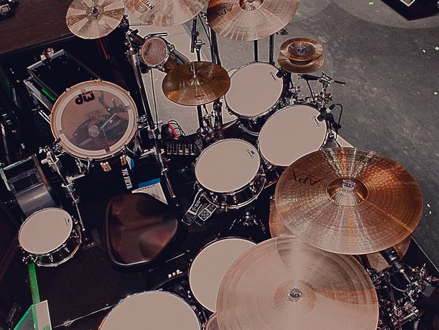 Le kit de Roy Mayorga du groupe Stone Sour