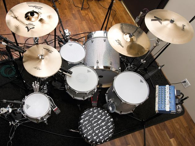 Le kit de Travis Barker du  groupe Blink 182/solo