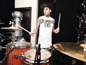 Travis Barker's drum setup: Blink-182/solo drummer's kit in pictures