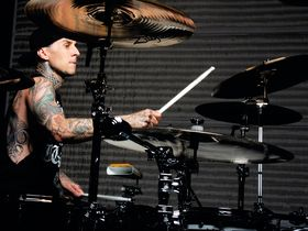 Travis Barker's Transplants drum setup in pictures