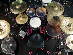 Nick Augusto's Trivium drum setup in pictures