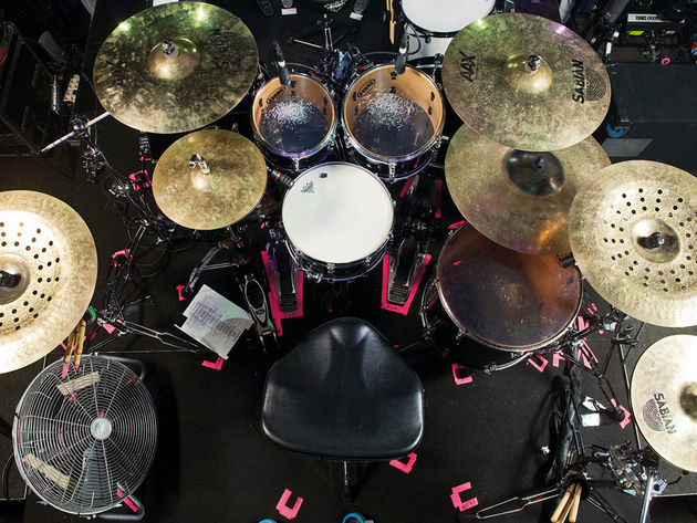 Le kit de Nick Augusto du groupe Trivium en images