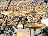 "Paiste Signature Series: 16"" Power crash; 17"" Power crash; 18"" Power crash; 18"" Full crash; 22"" Power ride; 14"" Heavy hi-hats"