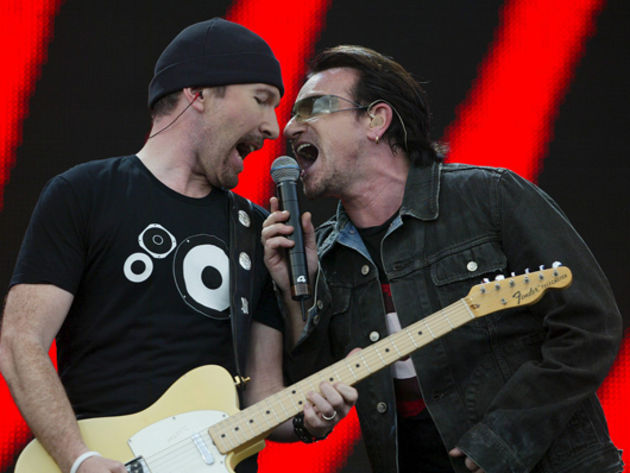 U2 open Live 8