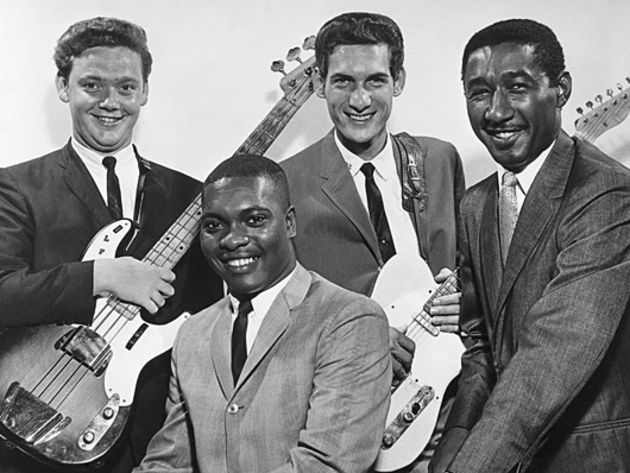 Dunn (left) with Booker T & The MGs bandmates
