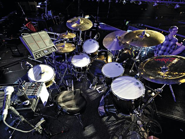 Steve Barney's The Wanted drum setup in pictures