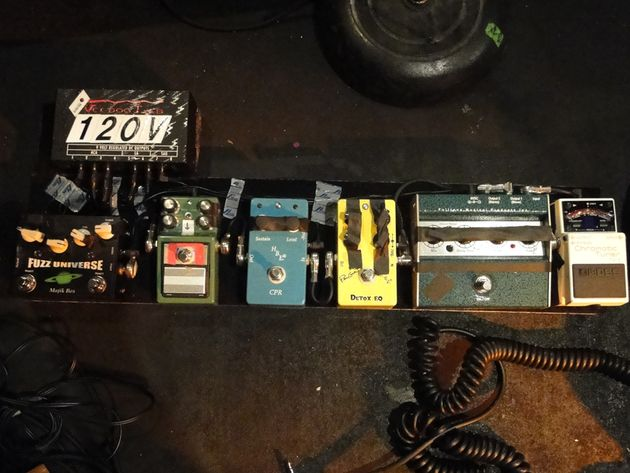 Paul's pedalboard. He set that up himself!