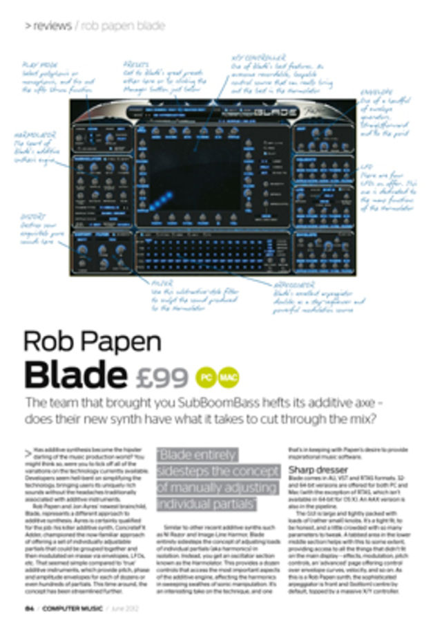 Rob Papen Blade review