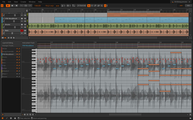 Layer Editing in Bitwig