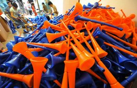 Piles of vuvuzelas, yesterday. © wang dingchang/xinhua/xinhua press/corbis