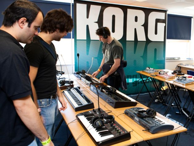 The Korg room. Brimming with their latest.
