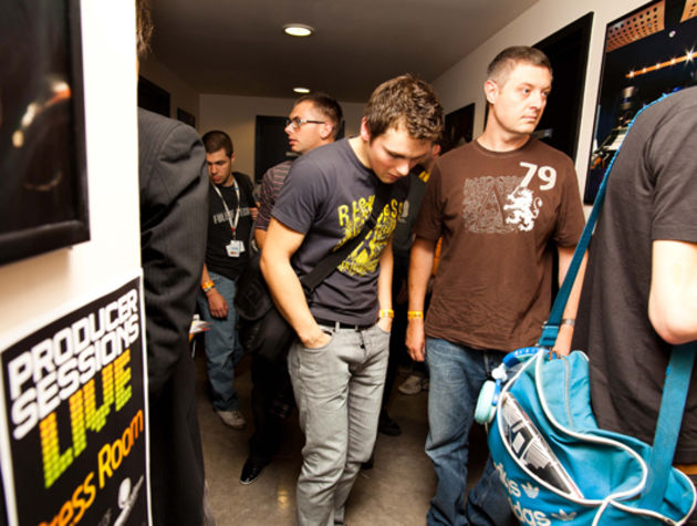 Showgoers throng the corridors of SAE for Producer Sessions Live