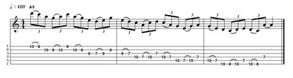 Sequential descending tab