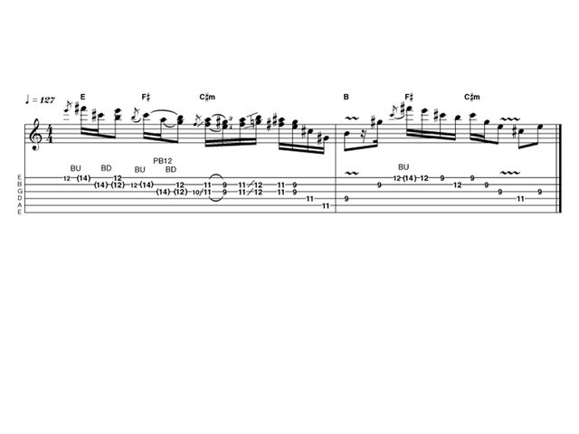 Intermediate lick one: Hendrix-style blues