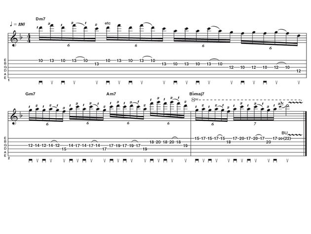 Advanced lick one: Gary Moore lines