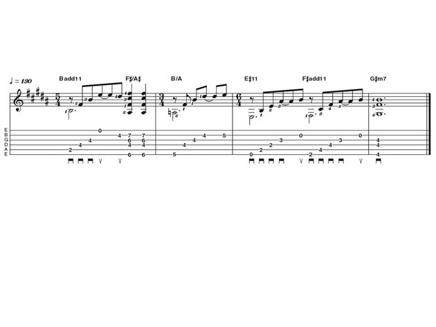 Intermediate lick one: Alex Lifeson riff
