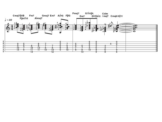 Advanced lick one: jazz stretch chords