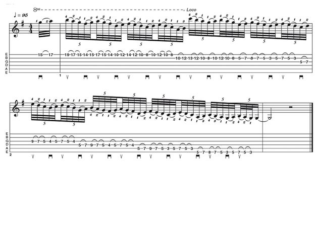 Advanced lick one: Jordan Rudess style lick