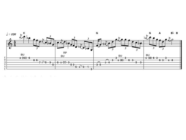 Intermediate lick one: Blues leads from the border
