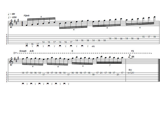 Advanced lick one: Burning Minor Mayhem!
