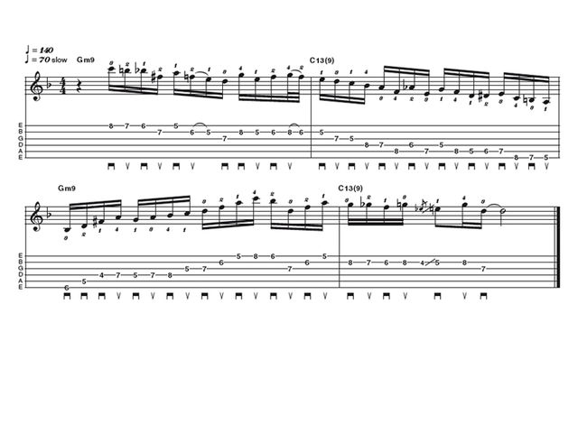 Advanced lick one: Jazz bebop IIm V run
