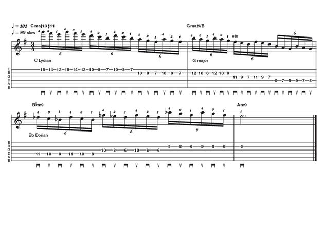 Advance lick two: DI Meola acoustic shred