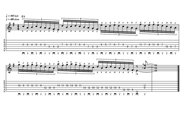 Advanced lick two: Dream Theater meltdown