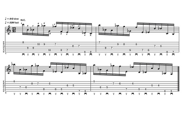 Advanced lick two: octave displacement