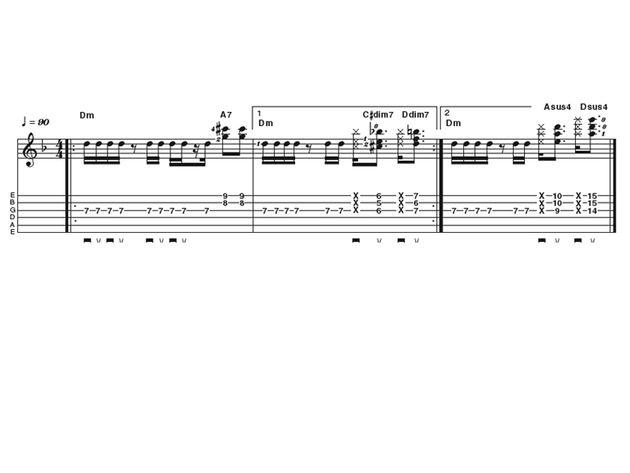 Intermediate lick 1: funky John Frusciante