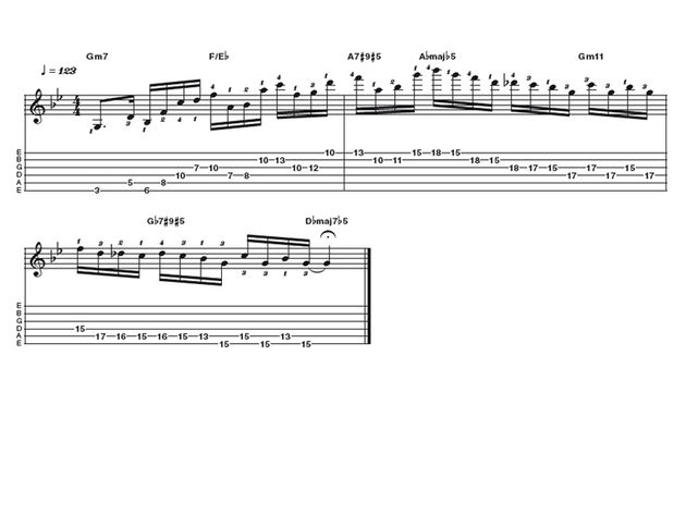 Advanced lick one: Carl Verheyen line