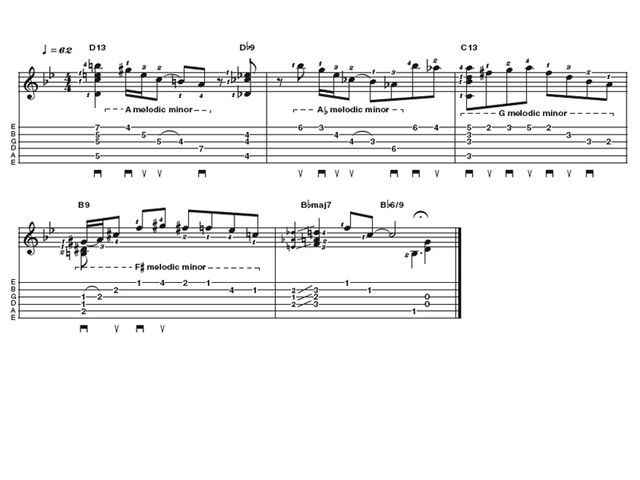 Advanced lick two: Joe Pass-style solo jazz