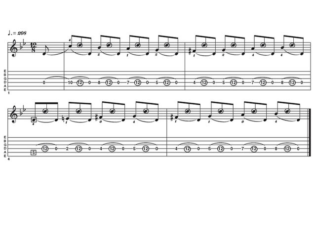 Intermediate lick two: Two-handed tapping