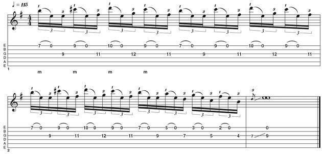 Advanced lick one: John 5-style