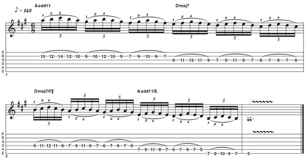 Advanced lick two: Satch legato