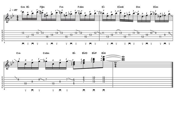 Advanced lick one: Jimmy Bryant-style