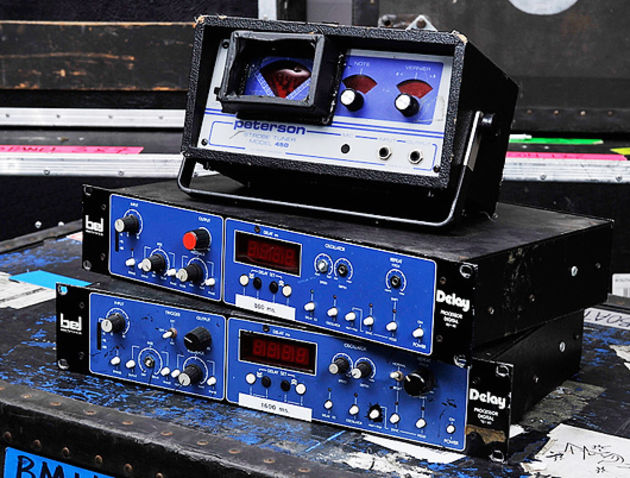 Brian May's Other Equipment - Bel BD-80 delays and Peterson 450 tuner