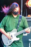 Stephen was back to a seven-string ESP for older Deftones material from the White Pony album – this is a custom model. He also has one in white.