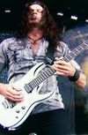 For Megadeth's technically demanding guitar parts, the band need a lead player who can step up to the challenge. And Former Jag Panzer and Nervermore guitar Chris Broderick certainly did that with his custom transparent white Ibanez seven-string. Best technician in the band since Marty Friedman? We think so.