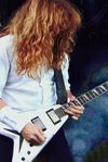 On the Saturday the first classic metal band of the weekend surfaced and we saw that it was good – Megadeth aired a set nearly half-filled with songs from their 1990 Rust In Peace album. Dave was playing a signature Dean Vehement.