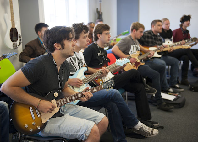 A batch of budding BIMM students. Drums just out of shot. Probably.
